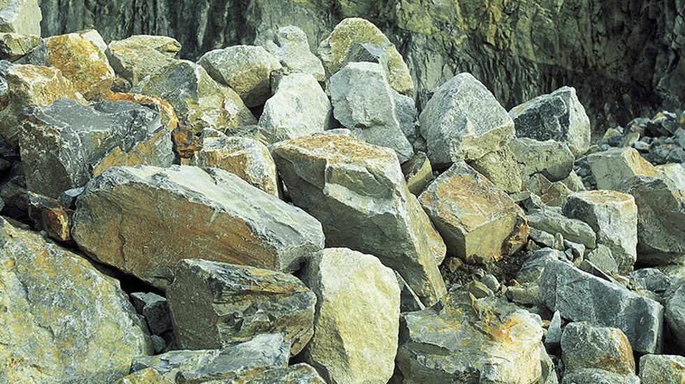 A pile of boulders.