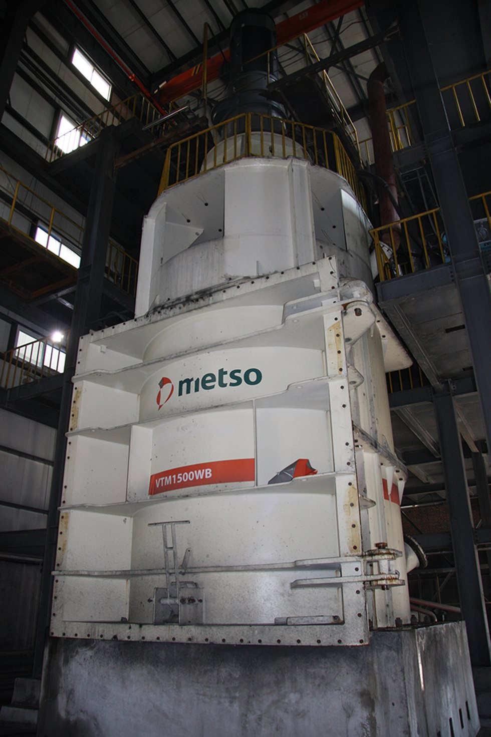 Vertimill 500 installed at Miaogou mine site.