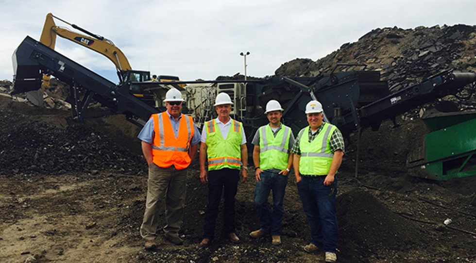 Ken Hearn of Wagner Equipment, Dave Shultejan, Adam Shultejan and Greg Jones at 120 85 LLC site