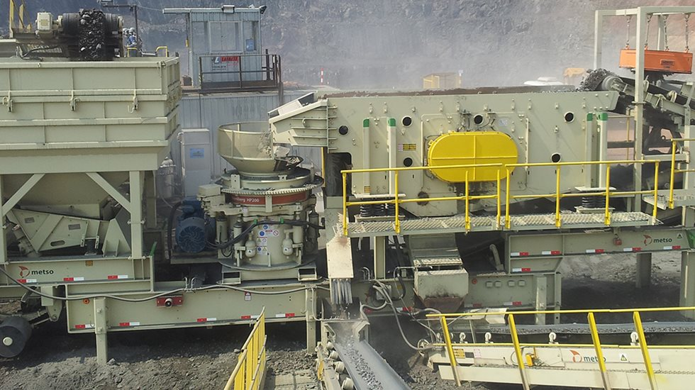 Metso portable NW crushing plant at Vale Salobo