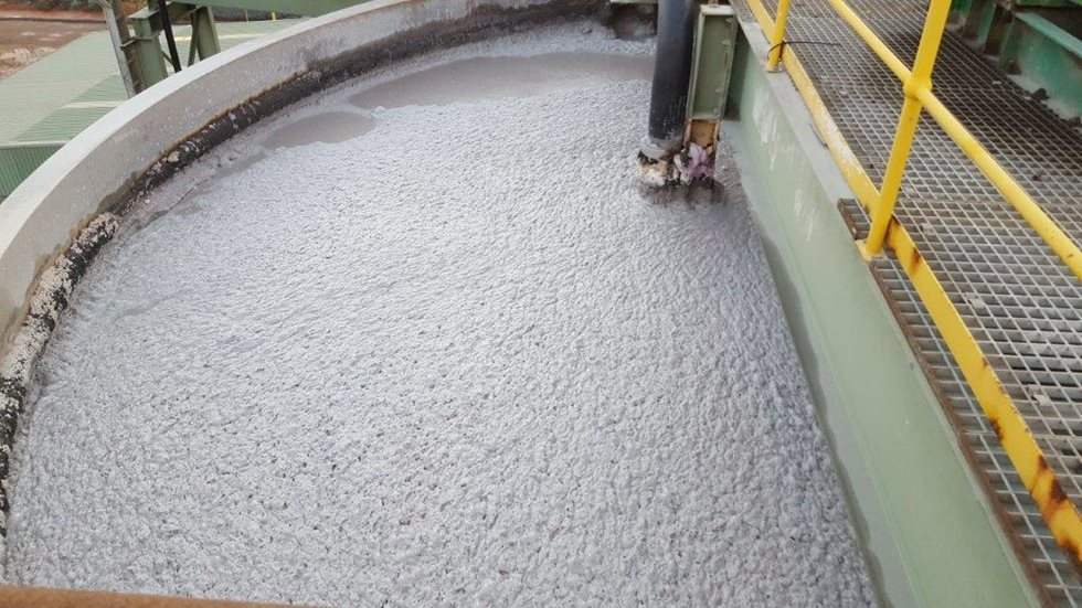 Before - Thickener for refractory campaign.