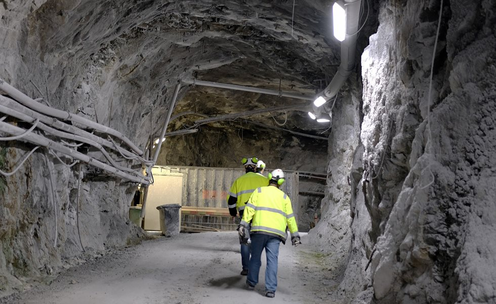 Nordkalk's Lappeenranta mine has minimized noise and dust emissions into the environment by building its production facilities 50–100 meters below ground level.