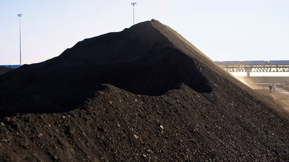 Stack of coal.