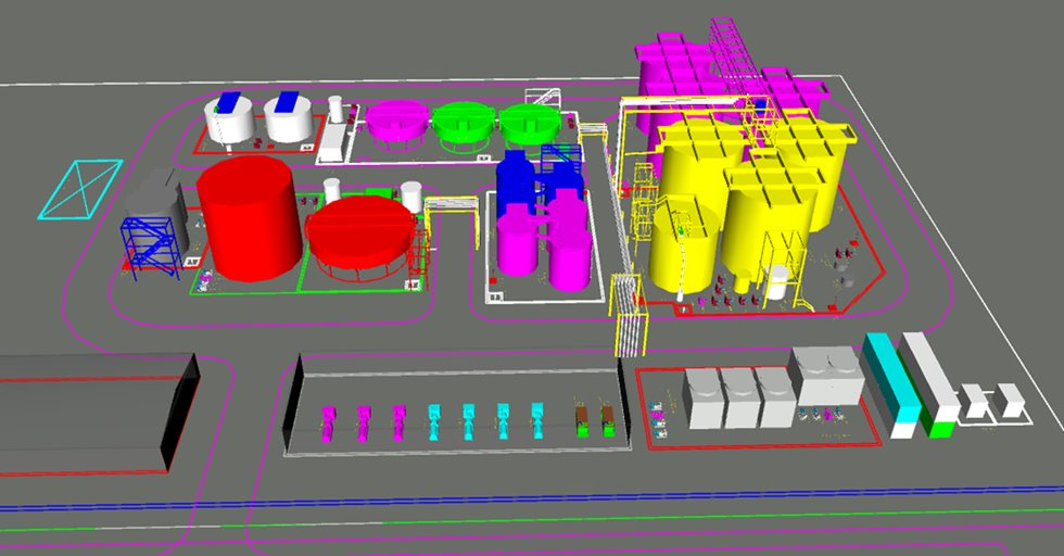 layout of the RioZim BIOX plant