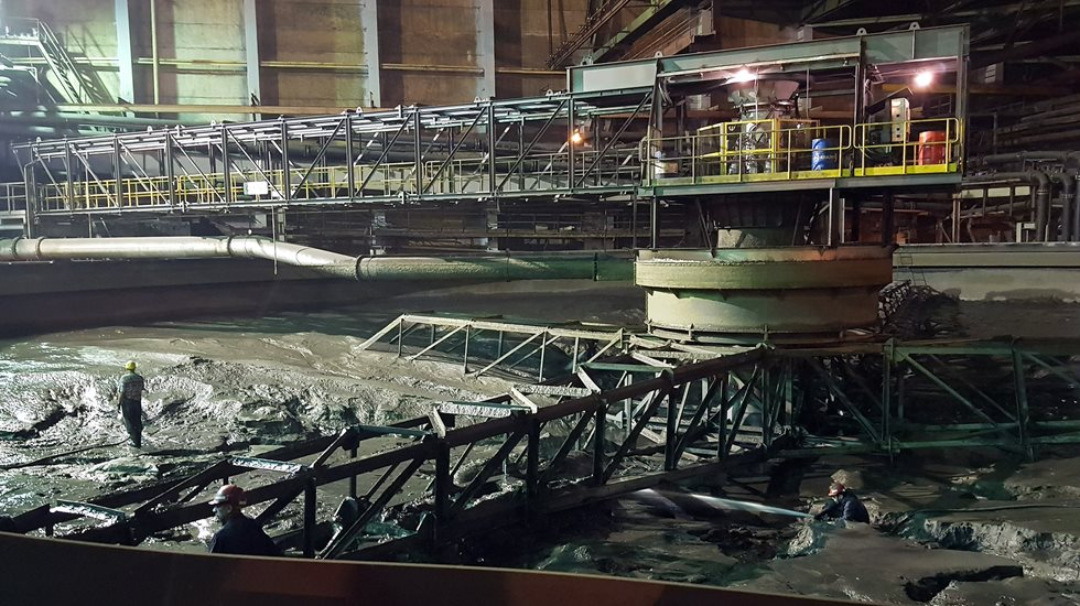 Thickener before modernization