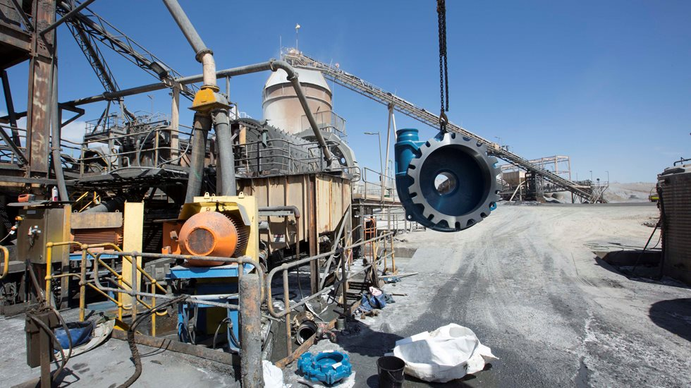 MD pump in the air at Greenfields Mill's mine