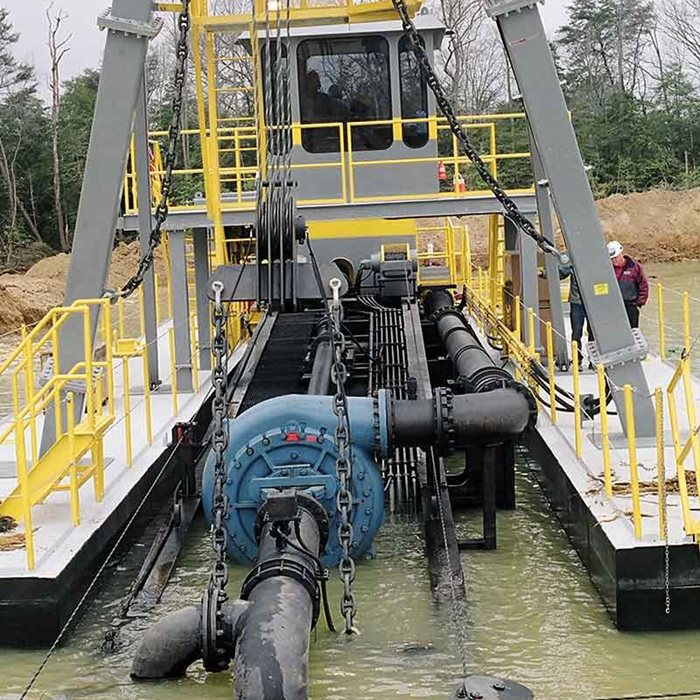 Thomas Simplicity pumps are rough and rugged solutions for dredging.