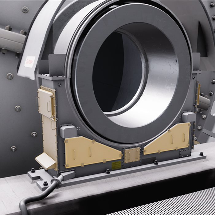 Barricade trunnion bearing